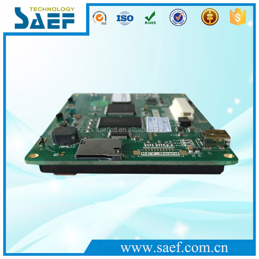 SAEF tft display 3.5 inch lcd panel serial interface 320x240 dots with control board with RS232 / TTL UART interface USB port