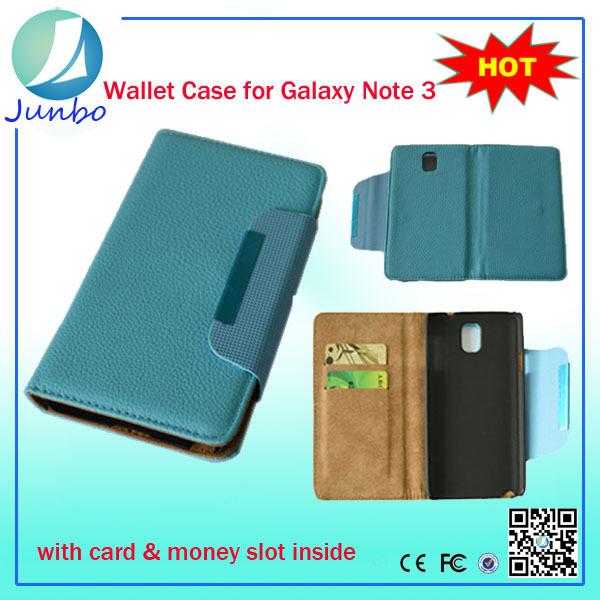 Magnetic flip purse leather case for samsung galaxy note 3