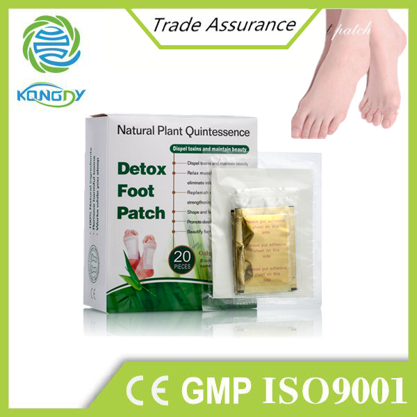 Chinese traditional natural herbal bamboo vinegar detox foot patch
