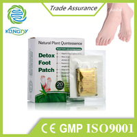 Chinese traditional natural herbal gold bamboo vinegar detox foot patch