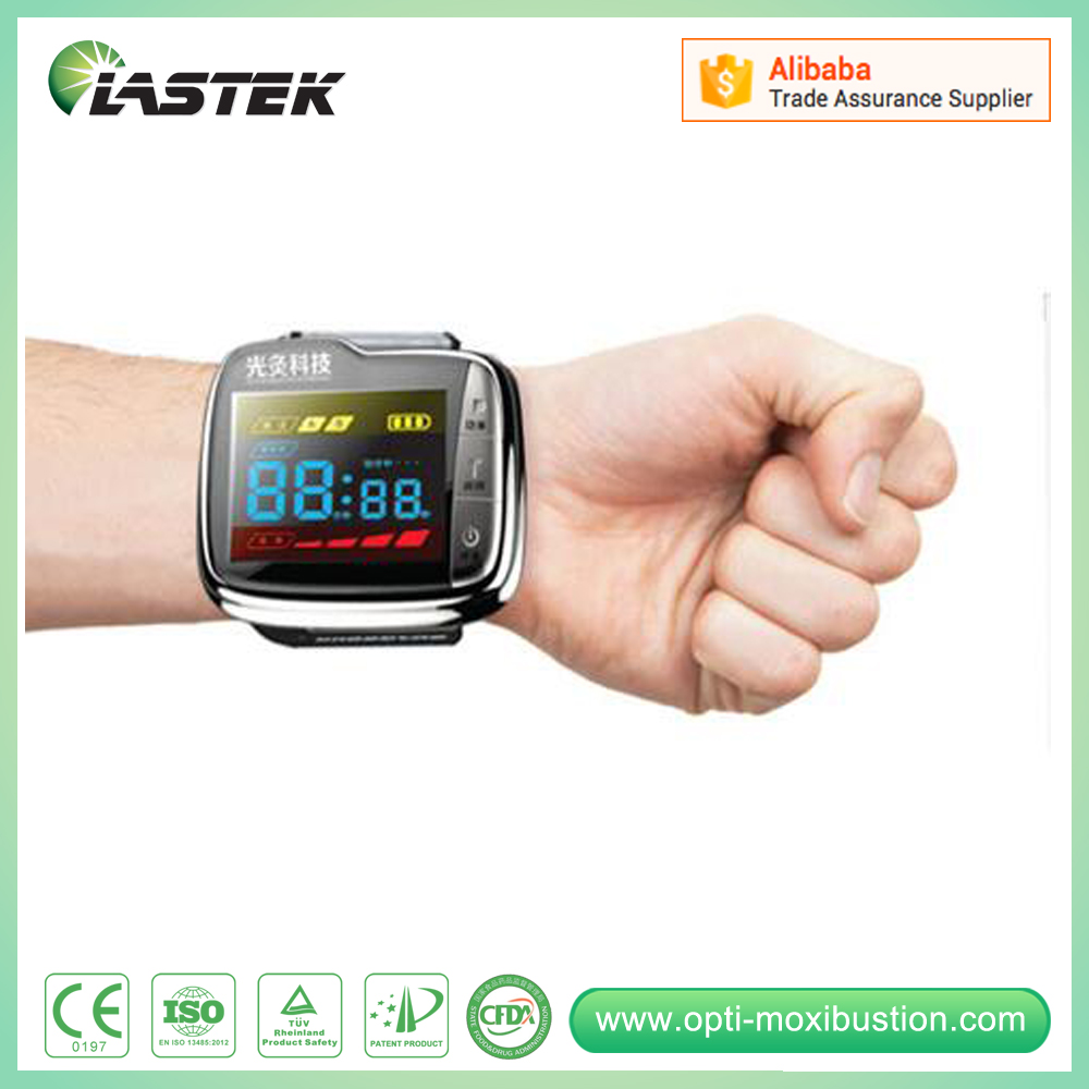 China Factory healthcare therapeutic laser level wrist watch blood pressure monitor