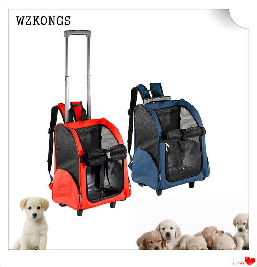 1 set of high-quality multi-functional pet carrying bags trolley multipurpose pet bag dog bag