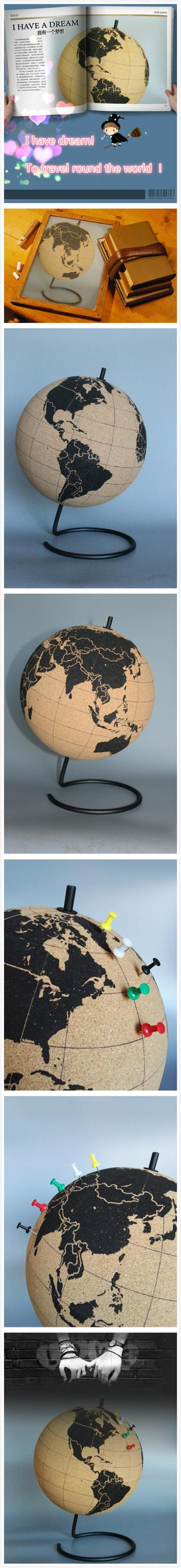 new design Cork globe