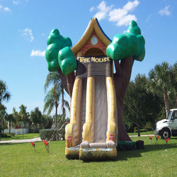 2015 pvc cheap inflatable tree house slide for sale