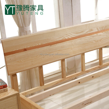 New style 1.8M solid wood double bed living room bed furniture simple modern 1.5M of ash raw wood