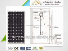 250w mono photovaltaic solar panel price usd with TUV CE CEC IEC ISO