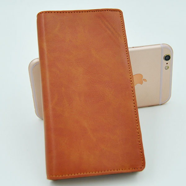 PU wallet leather phone case for 4 inch to 5 inch smartphone , for iphone cover