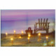 Beach Chair and Lantern Light Seascape LED Canvas