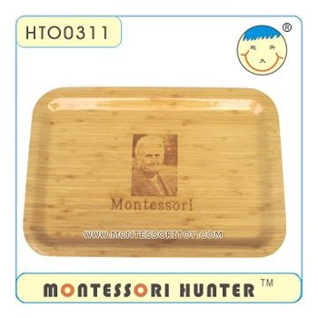 Montessori's Photo Wooden Tray
