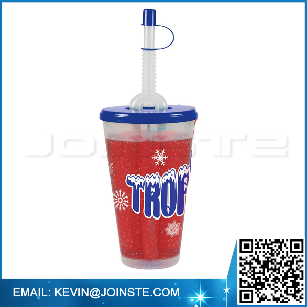 Plastic cup with two compartments,Split cup,2 in 1 cup