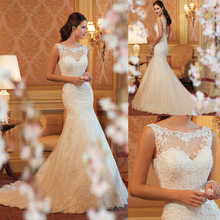 S61917A New arrival Lace Fabric White Women Wedding Dress