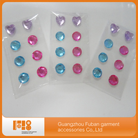 Top sale heart shaped self adhesive wall stickers acrylic rhinestone sticker wholesale