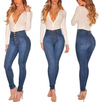 Skinny Plu Size Long Denim Pant ladies High Waist pantalones kan can Jeans women