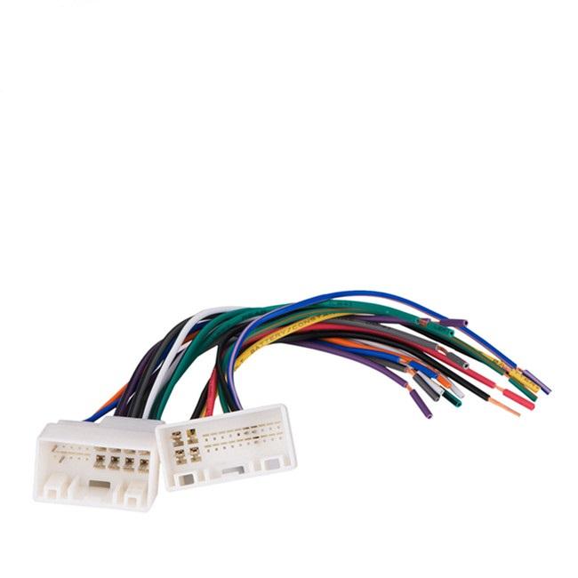 24 pin car stereo radio wiring harness plugs to factory radio for Dodge Dakota Radio Wiring Harness 24 pin car stereo radio wiring harness plugs to factory radio for hyundaii