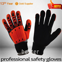 Low price special shock absorbing mechanic glove