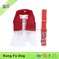 Pet Dog Red Wedding Dress