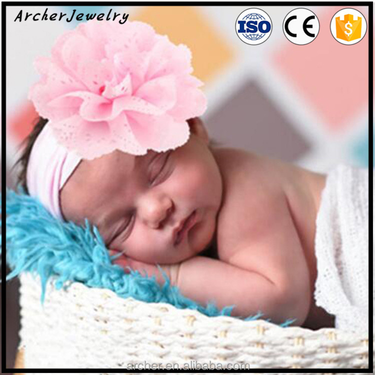 2017 new European prints cotton elastic headband baby cloth flower Barrette Hair Band HA-1130