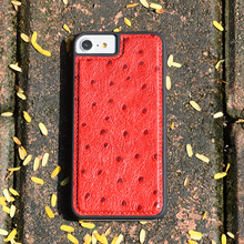 Premium ostrich embossed leather case for iphone 7