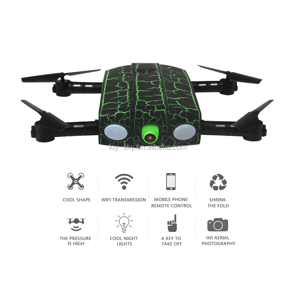 1705W Foldable Mini RC Selfie Drone with Wifi FPV 0.3MP HD Camera Altitude Hold & Headless Mode RC Quadcopter Drone