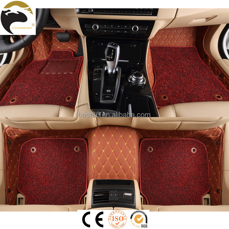 One-step pvc leather 5D car floor mat fasteners