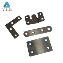 OEM Factory Customize Hardware Mounting Bracket Stainless Steel Mending Plate Brushed