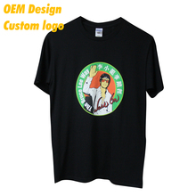 Wholesales Free sample Combed cotton Digital print Large size 200gsm Black Round Collar Boy T- shirt for Kid