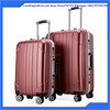 Red Wine color External Caster and PC Material durable sky travel luggage bag