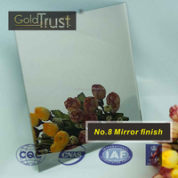 ASTM mirror finish stainless steel sheets for building decoration and wall panels