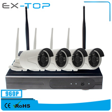 960P 4CH ONVIF P2P H.264 Wifi CCTV NVR Wireless Security Camera Kit
