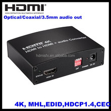 HDMI to HDMI and SPDIF,Coaxial and L/R Audio Extractor Converter, 4K