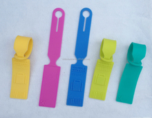 Silicone Mixed Design Luggage Bag Tag Set, Heavy Duty Travel ID Bag Tag