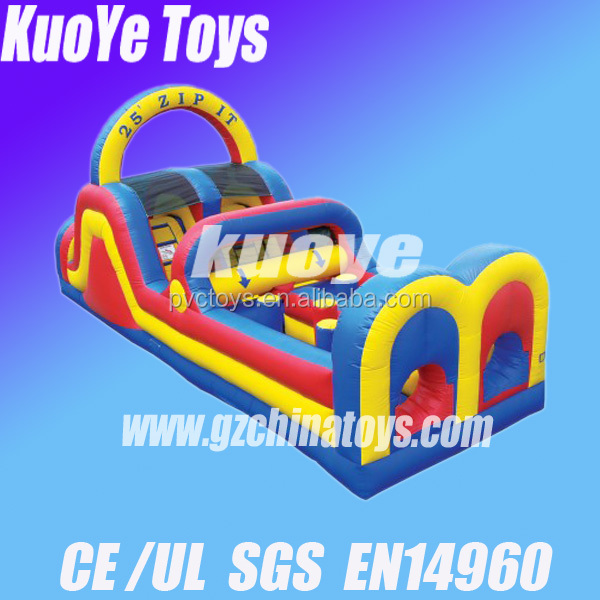 China supplier obstacle inflatable obstacle course run