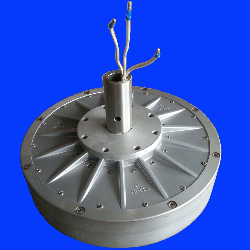 3000w disc core-less rare earth permanent magnet wind generator