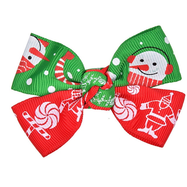 Jojo Fashion Accessories Baby Girl Ribbon Grosgrain Christmas Hair Bows