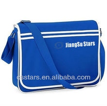 Bright Royal/White Retro Messenger Bag
