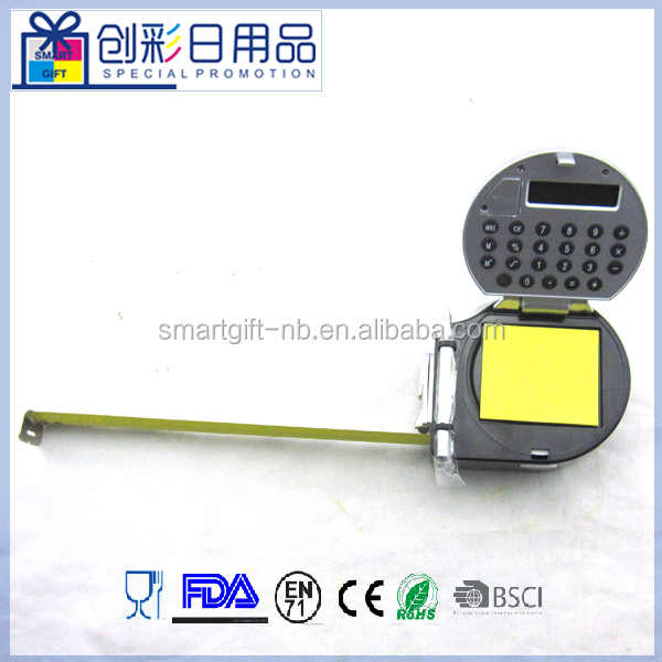 5 in1digital measure tape measure with led light,calculator,note paper pen