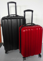 ABS PC zipper trolley case bag / luggage set / expandable flight case with four wheels