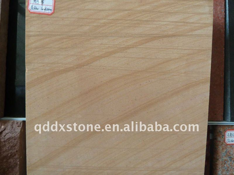 wooden yellow sandstone cut to size