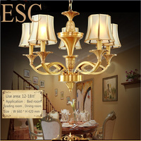 china CE ROHS copper chandelier lighting & pendant lights/ pendant lamp price with E27 Lampholder