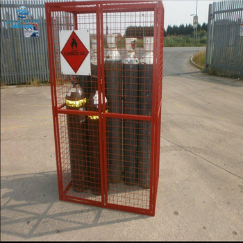 10x full size gas bottle welded security storage cage