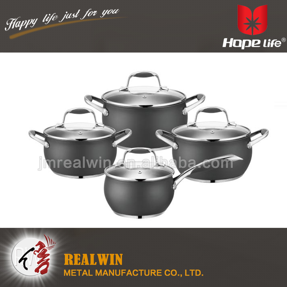 Elegant style design metal kitchenware and cookware cookware set kitchen , hotel restaurant cookware