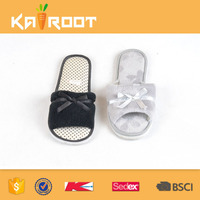 custom made logo pu eva soft sole house indoor slippers