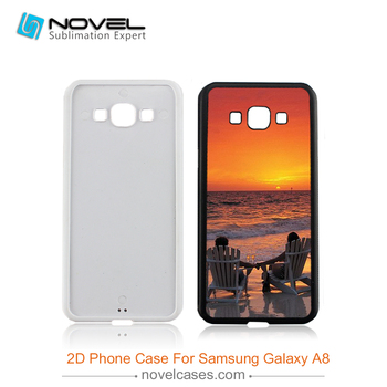 Sublimation blank soft rubber case for Samsung A8