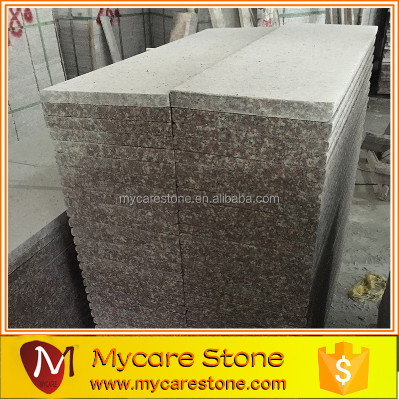 high quality red granite G687 granite stair steps and riser manufacture