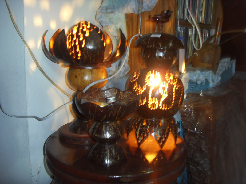 Designed Coconut Shell Lamps
