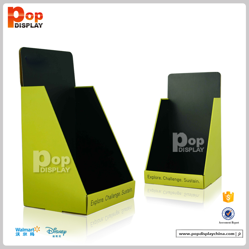 pop up cardboard book counter display for books point of sale counter top display