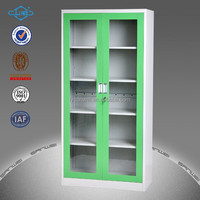 green 2 glass door key cabinet fit for office,/laboratory