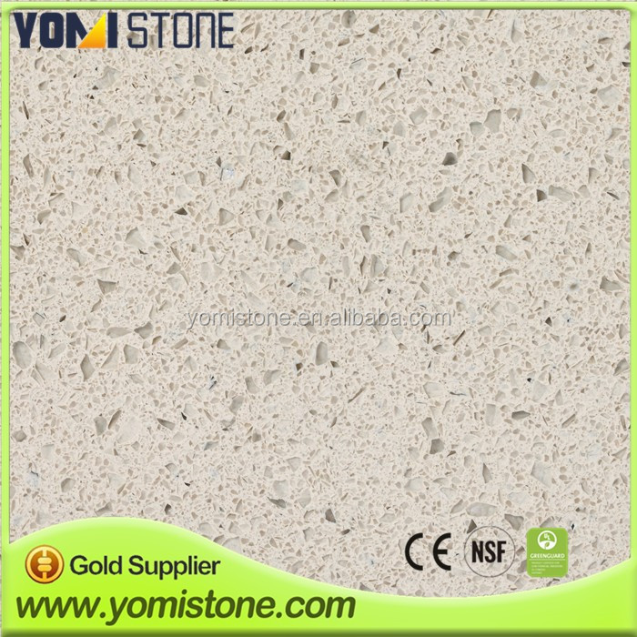 High quality engineered quartz countertop with dark blue sparkle