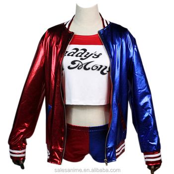 2016 new arrival hot sale Suicide Squad Harley Quinn Cosplay Costume