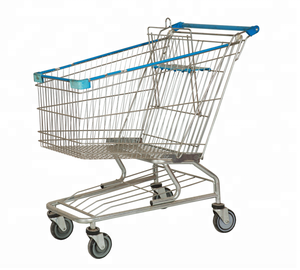 American style metal supermarket shopping cart